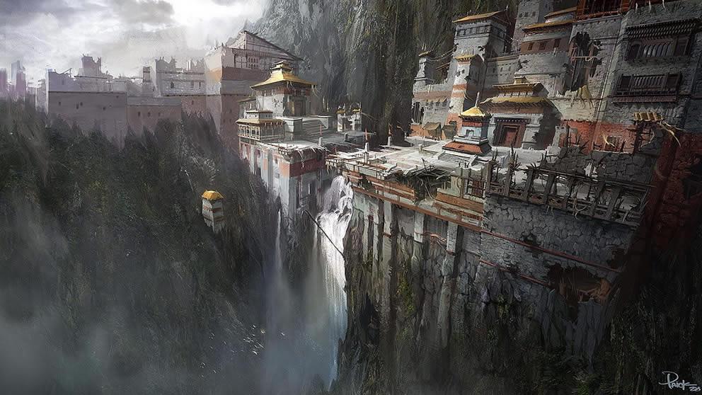 waterfall_town
